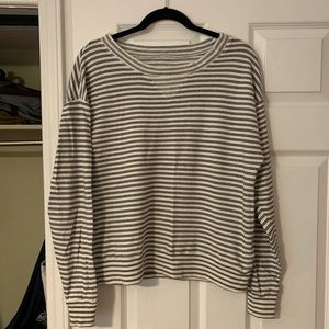 Vintage Madewell Striped Sweatshirt Size Large